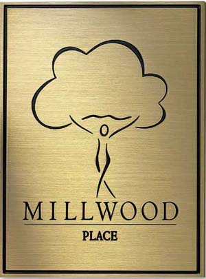 3d bronze etched plaque sign, 3d bronze sign